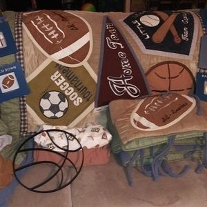 Cocalo sports fan crib set with extras